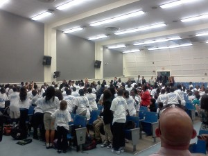JFK MIddle School Kids at be a STAR rally