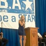 Lilian Garcia singing