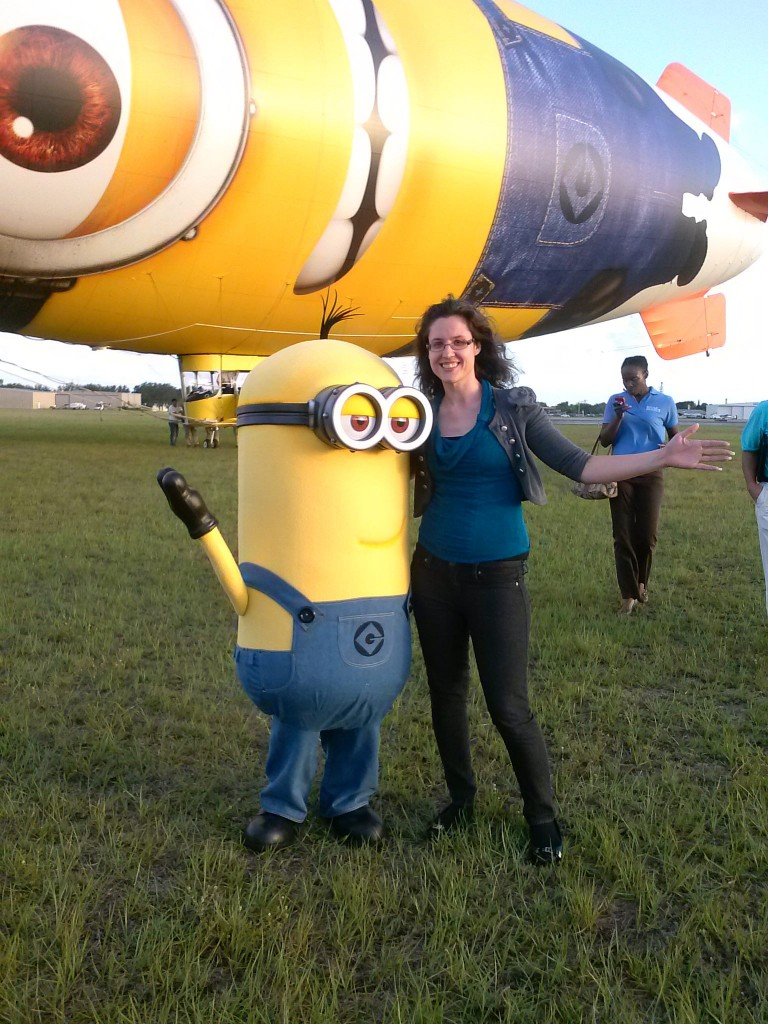 Heather and a minion