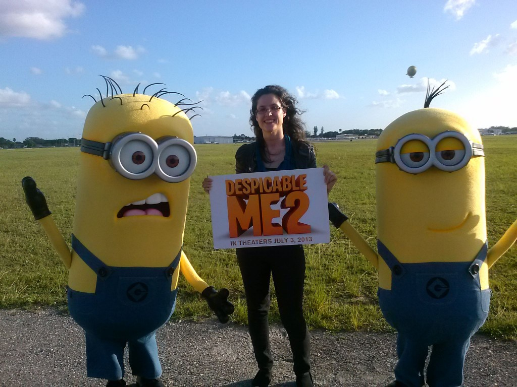 Heather with the Minions