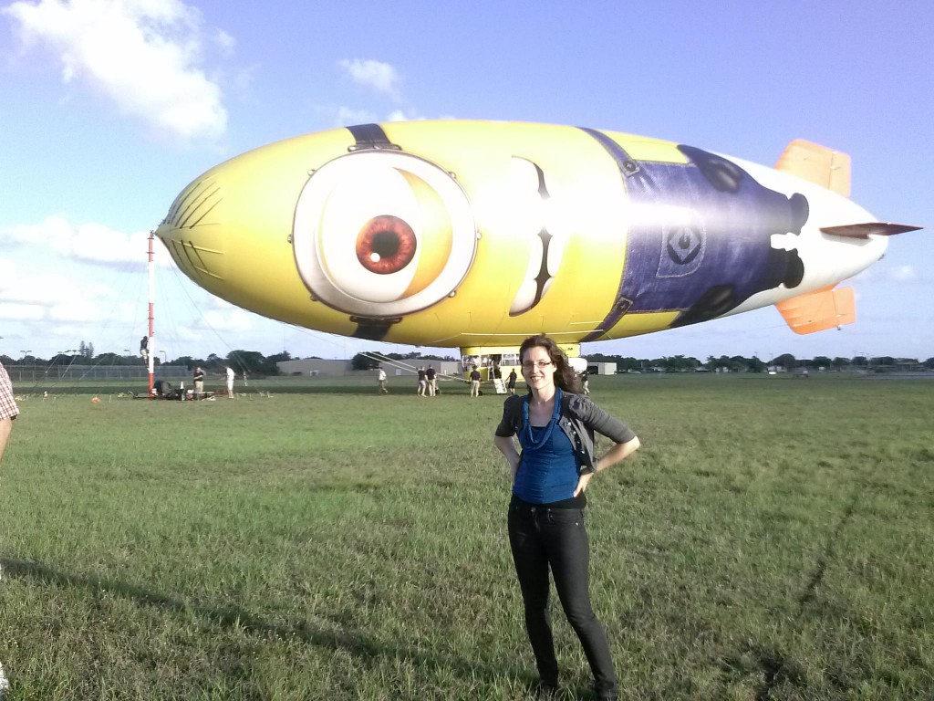 Heather in front of DespicaBlimp
