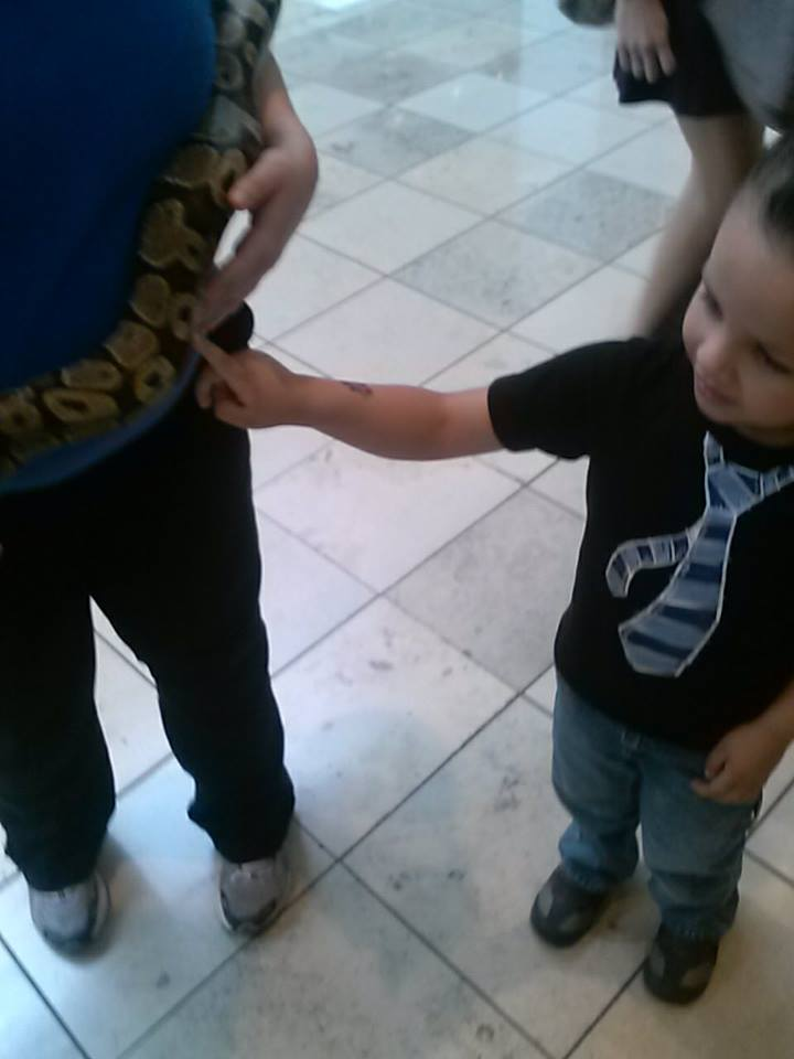 Joaquin with snake