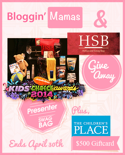 #BlogginMamas $1300 Giveaway of Kids Choice Award Swag Bag and $500 The Children's Place giftcard