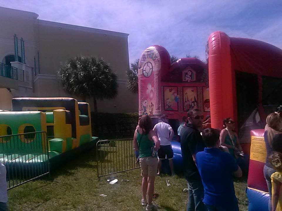 Bounce Houses at Egg-a-Palooza