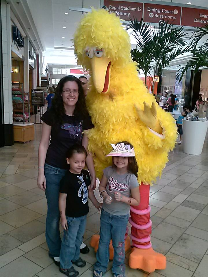 kids with Big Bird