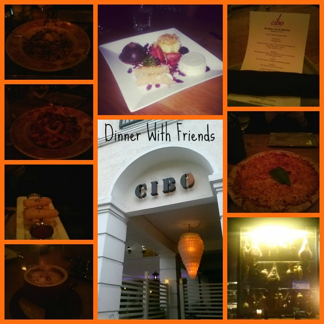 Dinner with friends at CIBO courtesy of Residence Inn