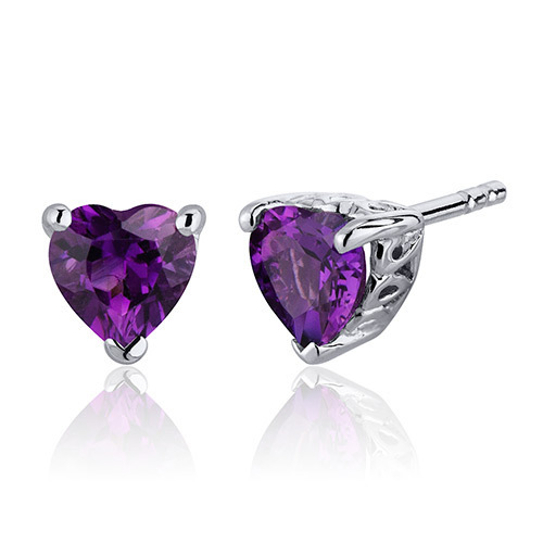 Purple Heart Studs by Bijouxx