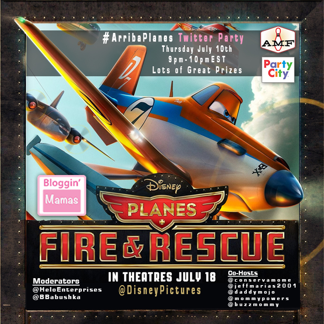 #ArribaPlanes Twitter Party with #BlogginMamas Disney Planes: Fire & Rescue Movie