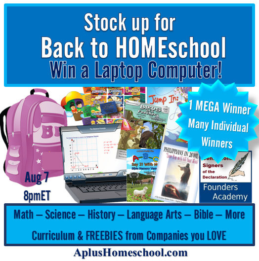 Back to HomeSchool giveaway! Win a Laptop and more!
