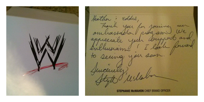 Letter from Stephanie McMahon