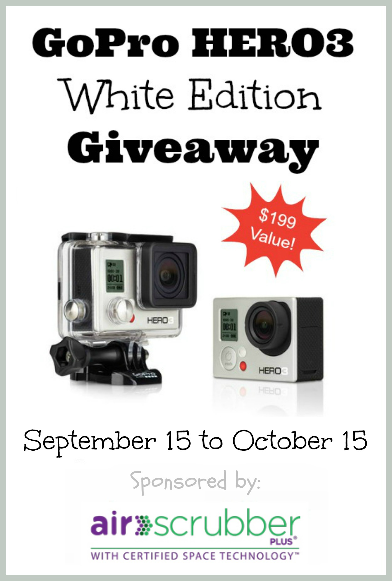 The Social Commerce Mom is participating in this GoPro Giveaway. http://heatherlopezenterprises.com/gopro-giveaway