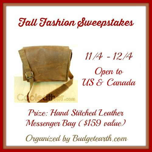 Fall Fashion Sweepstakes ends 12-4-14
