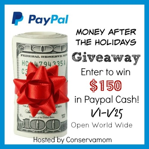 Win $150 PayPal Cash in the Money after the Holidays Giveaway! Ends 1/25