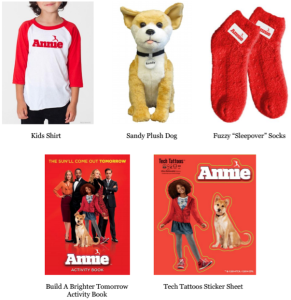 Annie Movie Prize Pack Giveaway- Ends 12-19-14