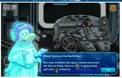 Club Penguin and Star Wars screenshot