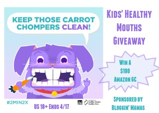 Kids' Healthy Mouths Giveaway- $100 Amazon Giftcard