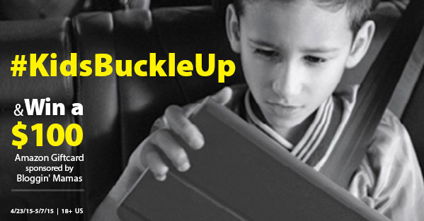 $100 Amazon Giftcard Giveaway to help make sure Kids Buckle Up.