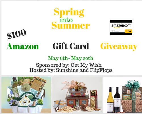 Spring into Summer $100 Amazon Giftcard Giveaway