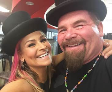 WWE Diva Natalya with her father.