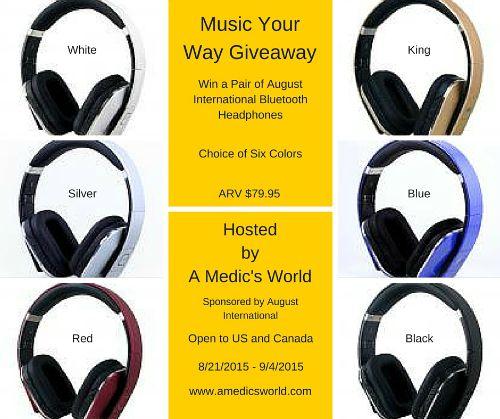 Wireless Headphones Giveaway Ends 9-4-15