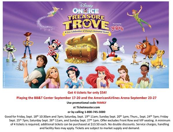 Disney On Ice Treasure Trove Ft. Lauderdale discount