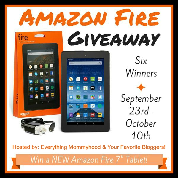 Win 1 of 6 Amazon Fire tablets. Ends 10-10-15!