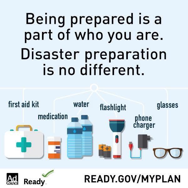 Ready.Gov/MyPlan Disaster Preparedness