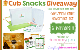Cub Snacks Giveaway. Ends 11-1-15. US 18+.