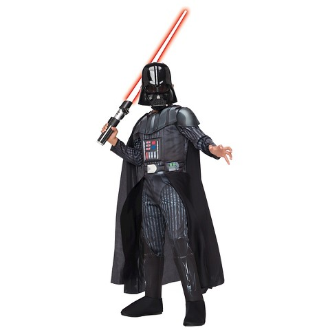 Star Wars Darh Vader Costume with Light Saber