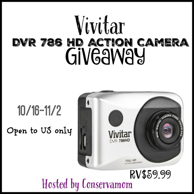 Vivitar DVR 786 HD Action Camera Giveaway-Ends 11-2-15