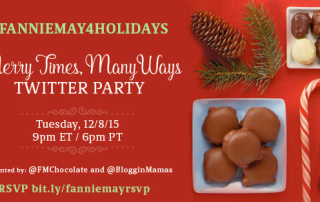Fannie May & Bloggin' Mamas Merry Times, Many Ways Twitter Party 12-8-15 at 9p EST #FannieMay4Holidays