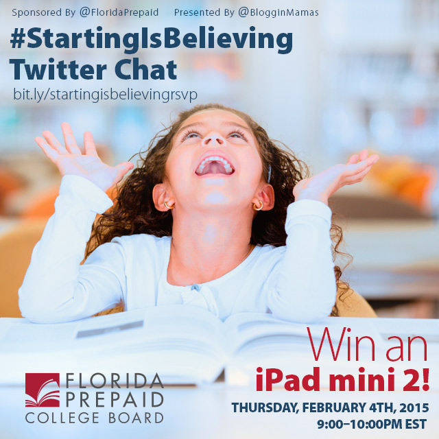 Florida Prepaid Starting Chat 2-4-16 US 18+ Win an iPad Mini 2. RSVP bit.ly/startingisbelievingrsvp