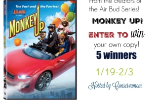 Monkey Up DVD GIveaway- ends 2-3-16- 5 winners