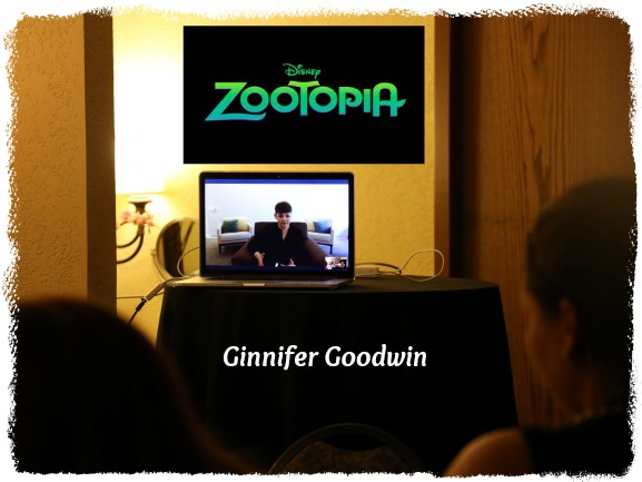 ZOOTOPIA - Actress Ginnifer Goodwin speaks to press via Skype at the ZOOTOPIA Press Junket at Disney's Animal Kingdom Lodge in Orlando, Fl. Photo by Alex Kang. ©2016. Disney. All Rights Reserved.