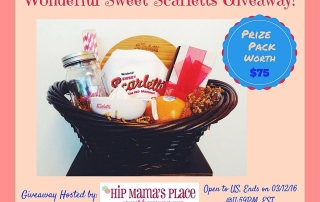 Win a Wonderful Sweet Scarletts Gift Basket Worth $75! Ends 3-12-16
