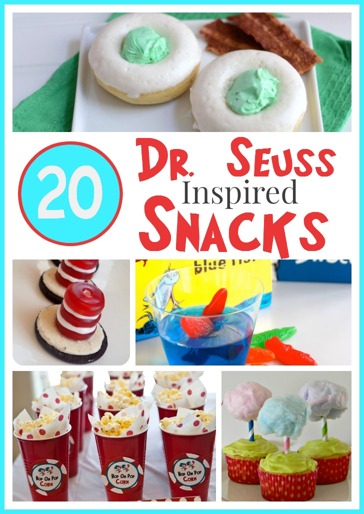 20 Dr. Seuss Inspired Snacks to celebrate Dr. Seuss's Birthday!