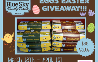 Win 100+ Eggs for Easter in this Giveaway sponsored by Blue Sky Family Farms- Ends 4-1-16. US 18+