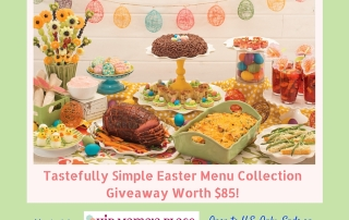 Tastefully Simple Easter Giveaway Ends 4-1-16