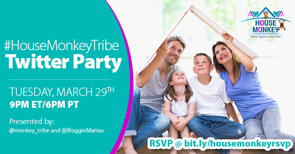 House Monkey Launch Twitter Party 3-29-16 at 9p EST. bit.ly/housemonkeyrsvp