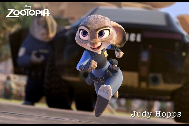 Zootopia's Officer Judy Hopps ©2016. Disney. All Rights Reserved.
