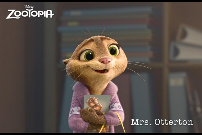 Zootopia- Pictured: Mrs. Otterton ©2016. Disney. All Rights Reserved.