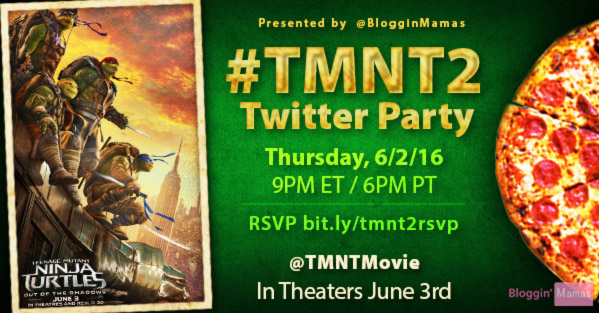TMNT2 Twitter Party 6-2-16 at 9p ET