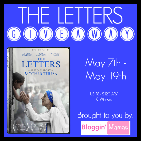 The Letters DVD Giveaway- 8 winners- ends 5-19-16