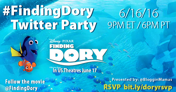 Finding Dory Twitter Party 6-16-16 at 9p ET RSVP bit.ly/doryrsvp