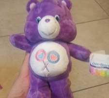 Care Bears Just Play bean plush Share Bear