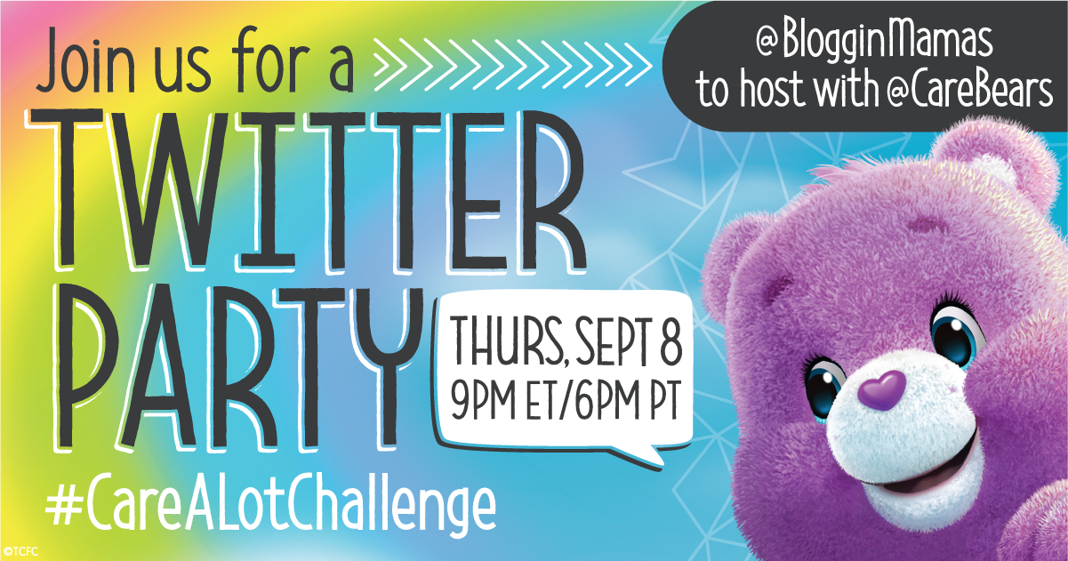 Care Bears Care-a-Lot Challenge Twitter Party 9-8-16 at 9p ET