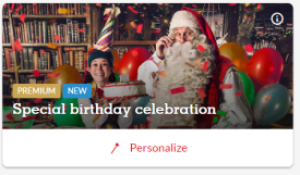 Premium Santa Birthday Message