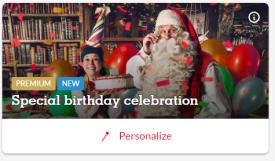 Premium Santa Birthday Message