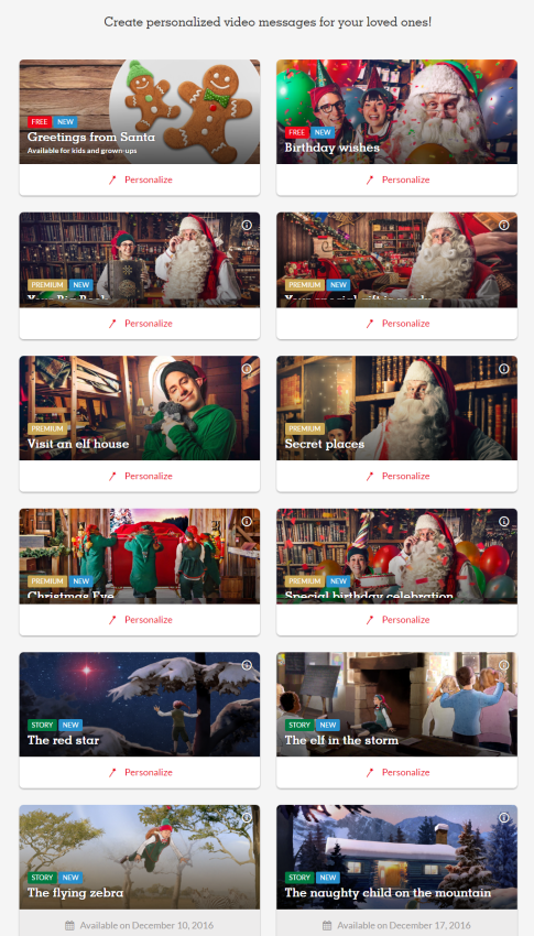 Create a Santa Video Message