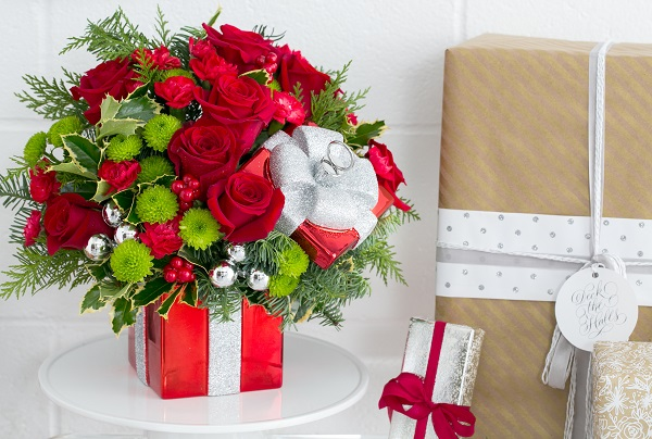 teleflora gift wrapped bouquet Photo Credit: Scott Clark Photo
